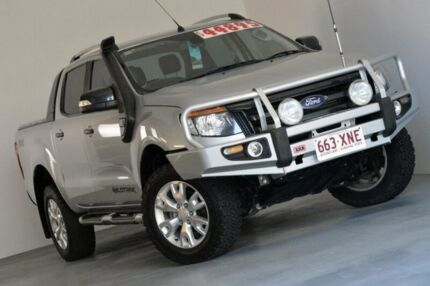 2013 Ford Ranger PX Wildtrak Double Cab Silver 6 Speed Sports Automatic Utility