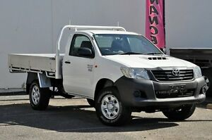 2012 Toyota Hilux KUN26R MY12 Workmate White 4 Speed Automatic Cab Chassis Tweed Heads South Tweed Heads Area Preview