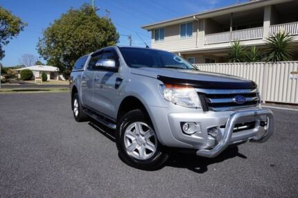 2013 Ford Ranger PX XLT 3.2 (4x4) Silver 6 Speed Automatic Dual Cab Utility Dalby Dalby Area Preview