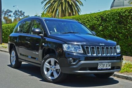 2012 Jeep Compass MK MY12 Sport CVT Auto Stick Black 6 Speed Constant Variable Wagon