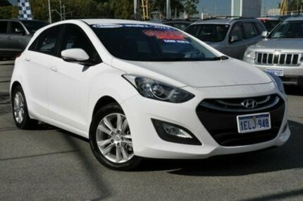 2014 Hyundai i30 GD2 MY14 Trophy White 6 Speed Automatic Hatchback Myaree Melville Area Preview