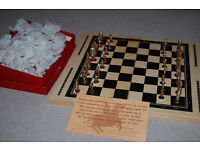 Gold Plated Chess Set Ideal Gift Boxed - 1960's Victorian Gallery Purchase