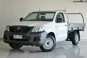 2012 Toyota Hilux TGN16R MY12 Workmate White 5 Speed Manual Cab Chassis Southport Gold Coast City Preview