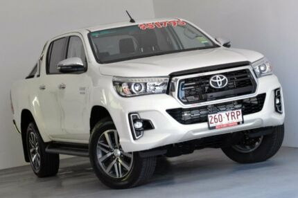 2018 Toyota Hilux GUN126R SR5 Double Cab White 6 Speed Sports Automatic Utility Kedron Brisbane North East Preview