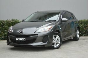 2012 Mazda 3 BL10F2 MY13 Neo Grey 6 Speed Manual Hatchback South Maitland Maitland Area Preview