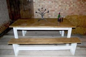 very solid dining table set