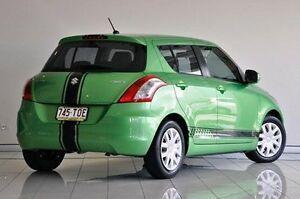 2013 Suzuki Swift FZ GL Green 4 Speed Automatic Hatchback Southport Gold Coast City Preview