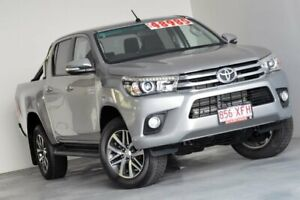 2017 Toyota Hilux GUN126R SR5 Double Cab Silver 6 Speed Sports Automatic Utility Albion Brisbane North East Preview