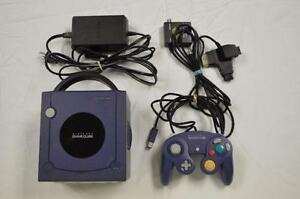 PURPLE NINTENDO GAMECUBE SYSTEM AND GAMES 4 SALE- MARIO, KART, PARTY 4-5-6-7, ZELDA, POKEMON. SUPER SMASH, RESIDENT EVIL