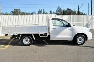 2010 Toyota Hilux GGN15R MY10 SR White 5 Speed Automatic Cab Chassis Gosford Gosford Area Preview