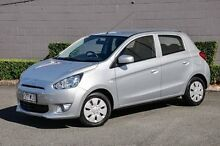 2013 Mitsubishi Mirage LA MY14 ES Silver 5 Speed Manual Hatchback Main Beach Gold Coast City Preview
