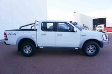 2008 Ford Ranger PJ XLT Crew Cab White 5 Speed Manual Utility Wangara Wanneroo Area Preview