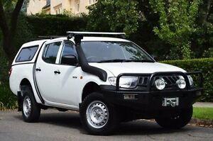 2009 Mitsubishi Triton ML MY09 GLX Double Cab White 4 Speed Automatic Utility Thorngate Prospect Area Preview