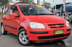 2004 Hyundai Getz TB MY04 GL Red 4 Speed Automatic Hatchback North Gosford Gosford Area Preview