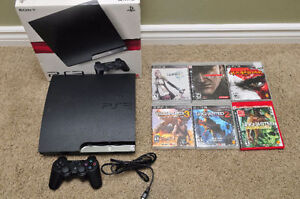 Sony playstation 3 slim ps3 with 6 games uncharted console 4