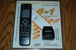 NEW! 3D2 PS2 DVD Universal 6-in-1 Remote Control!