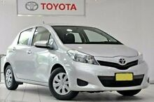 2012 Toyota Yaris NCP130R YR Silver Pearl 4 Speed Automatic Hatchback Waterloo Inner Sydney Preview