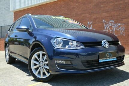 2014 Volkswagen Golf VII MY14 103TSI DSG Highline Blue 7 Speed Sports Automatic Dual Clutch Wagon Ashmore Gold Coast City Preview