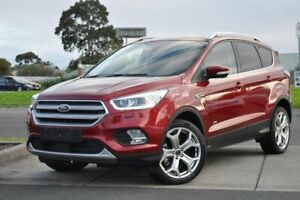 2017 Ford Escape ZG Titanium PwrShift AWD Red 6 Speed Sports Automatic Dual Clutch Wagon Brighton Bayside Area Preview