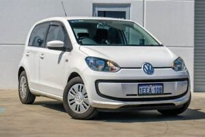 2012 Volkswagen UP! Type AA MY13 White 5 Speed Manual Hatchback