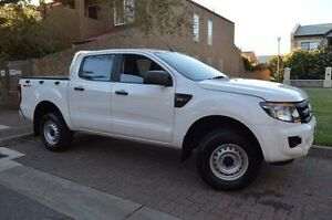 2013 Ford Ranger PX XL Double Cab 4x2 Hi-Rider White 6 Speed Sports Automatic Utility Stepney Norwood Area Preview