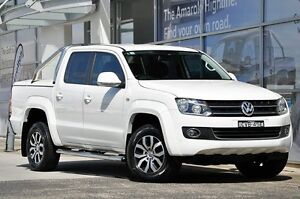 2014 Volkswagen Amarok 2H MY14 TDI400 4Mot Highline White 6 Speed Manual Utility South Lismore Lismore Area Preview