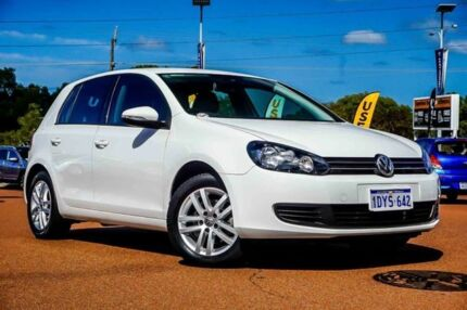 2012 Volkswagen Golf VI MY12.5 103TDI DSG Comfortline White 6 Speed Sports Automatic Dual Clutch