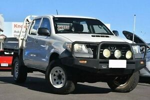 2012 Toyota Hilux KUN26R MY12 Workmate Double Cab Glacier White 5 Speed Manual Utility Glendalough Stirling Area Preview