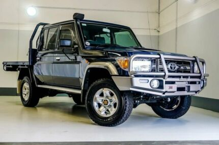 2015 Toyota Landcruiser VDJ79R GXL Double Cab Blue 5 Speed Manual Cab Chassis Wangara Wanneroo Area Preview
