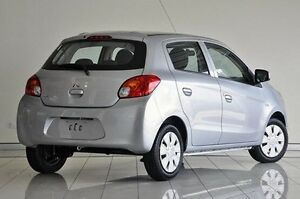 2014 Mitsubishi Mirage LA MY14 ES Silver 5 Speed Manual Hatchback Southport Gold Coast City Preview