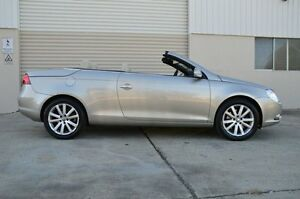2008 Volkswagen EOS 1F MY09 147TSI DSG Gold 6 Speed Sports Automatic Dual Clutch Convertible Ashmore Gold Coast City Preview