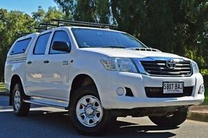 2013 Toyota Hilux KUN26R MY12 SR Double Cab White 5 Speed Manual Utility Thorngate Prospect Area Preview