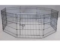 Easipet metal dog run with drop pins medium