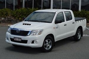 2013 Toyota Hilux White Manual Utility Highland Park Gold Coast City Preview