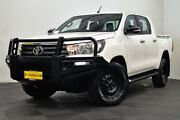 2015 Toyota Hilux GUN126R SR Double Cab White 6 Speed Sports Automatic Utility Edgewater Joondalup Area Preview