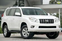 2010 Toyota Landcruiser Prado GRJ150R GXL White 5 Speed Sports Automatic Wagon Blacktown Blacktown Area Preview