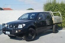 2011 Nissan Navara D40 MY11 RX Black 6 Speed Manual Cab Chassis South Launceston Launceston Area Preview