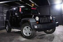 2011 Jeep Wrangler JK MY2010 Unlimited Sport Black 6 Speed Manual Softtop Wangara Wanneroo Area Preview