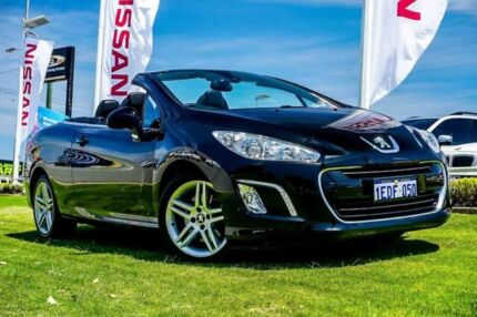 2013 Peugeot 308 T7 MY13 CC Allure Black 6 Speed Sports Automatic Convertible