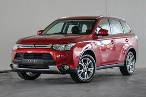 2014 Mitsubishi Outlander ZJ MY14.5 ES 4WD Red 6 Speed Constant Variable Wagon Robina Gold Coast South Preview