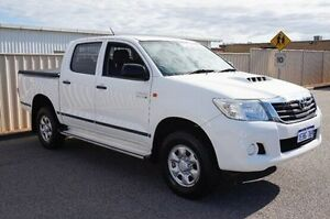 2013 Toyota Hilux KUN26R MY12 SR Double Cab White 5 Speed Manual Utility Pearsall Wanneroo Area Preview