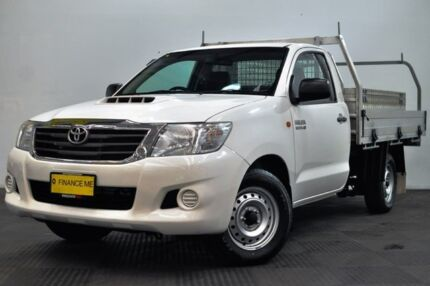 2014 Toyota Hilux KUN16R MY14 SR 4x2 White 5 Speed Manual Cab Chassis Edgewater Joondalup Area Preview