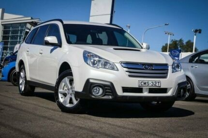 2013 Subaru Outback B5A MY13 2.0D Lineartronic AWD Satin White Pearl 7 Speed Constant Variable Wagon Parramatta Parramatta Area Preview