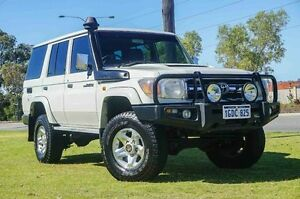 2008 Toyota Landcruiser VDJ76R GXL White 5 Speed Manual Wagon Wangara Wanneroo Area Preview