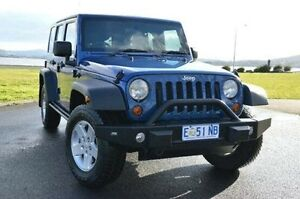 2010 Jeep Wrangler JK MY2010 Unlimited Sport Blue 4 Speed Automatic Softtop Derwent Park Glenorchy Area Preview