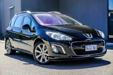 2012 Peugeot 308 T7 MY12 Active Touring HDI Black 6 Speed Sports Automatic Wagon Osborne Park Stirling Area Preview