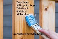 Deck Fence Sidings Railings - Repairs Paints Stains