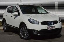 2012 Nissan Dualis J10W Series 3 MY12 Ti Hatch X-tronic 2WD White 6 Speed Constant Variable Hatchbac Mount Gravatt Brisbane South East Preview