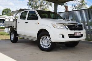 2013 Toyota Hilux KUN26R MY12 SR Double Cab Glacier White 4 Speed Automatic Utility Dalby Dalby Area Preview