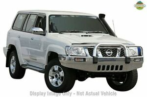 2011 Nissan Patrol GU 7 MY10 ST Diamond White 5 Speed Manual Wagon Beaudesert Ipswich South Preview